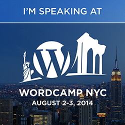 I'm speaking at WordCamp NYC 2014
